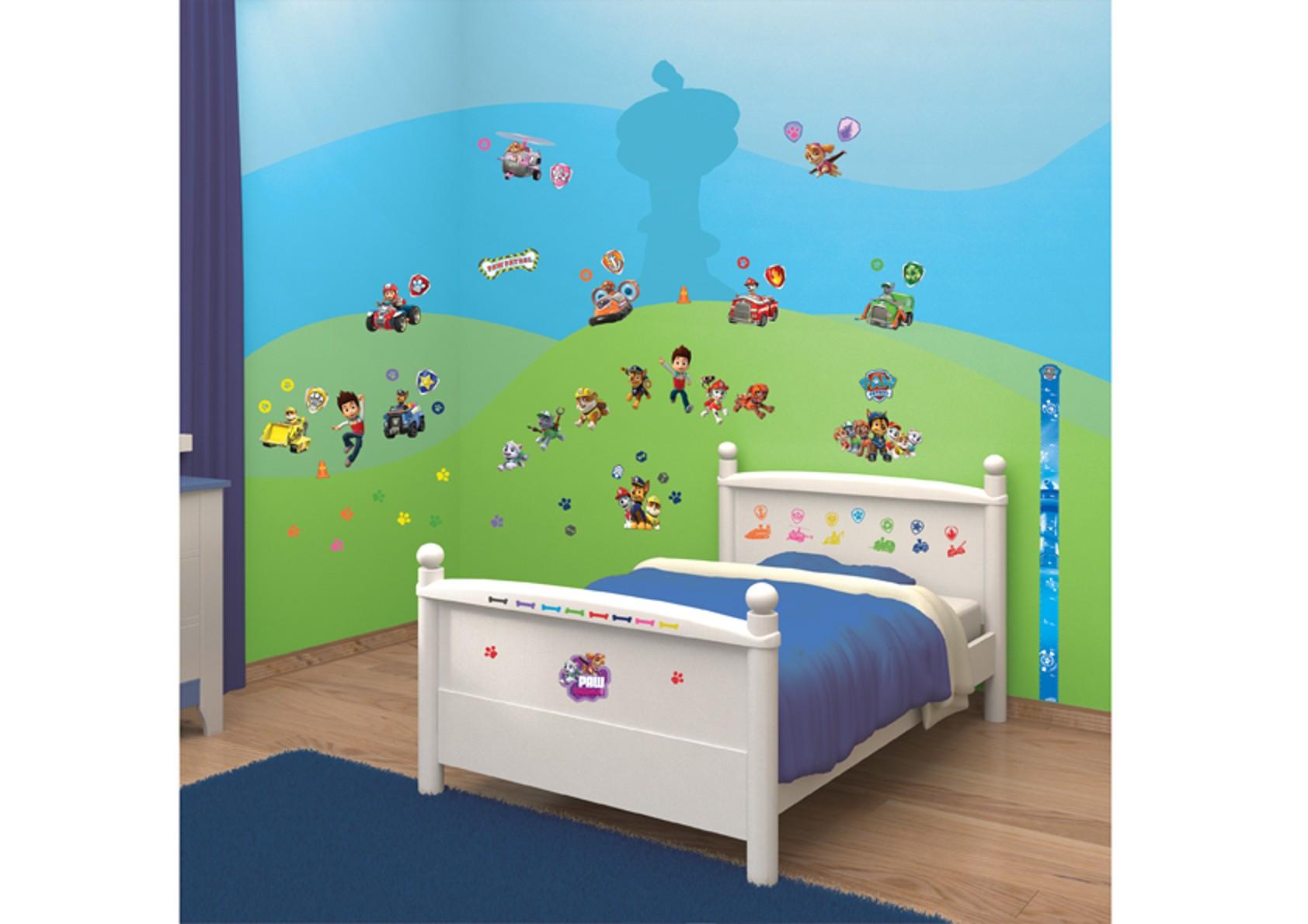 Samolepicí dekorace Walltastic Tlapková patrola 34 x 46 cm (Dětské samolepicí dekorace)