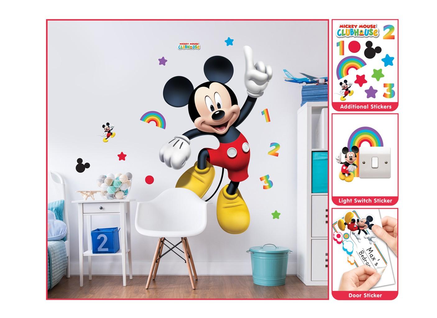 Samolepicí dekorace Walltastic Mickey 44326 (Sada samolepek do dětského pokoje)