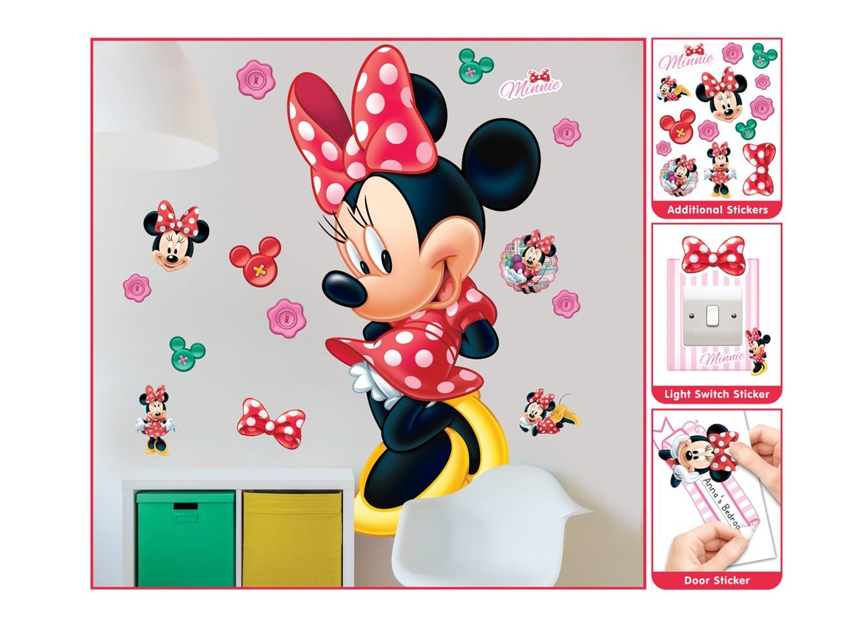 Samolepicí dekorace Walltastic Minnie 44265 (Sada samolepek do dětského pokoje)