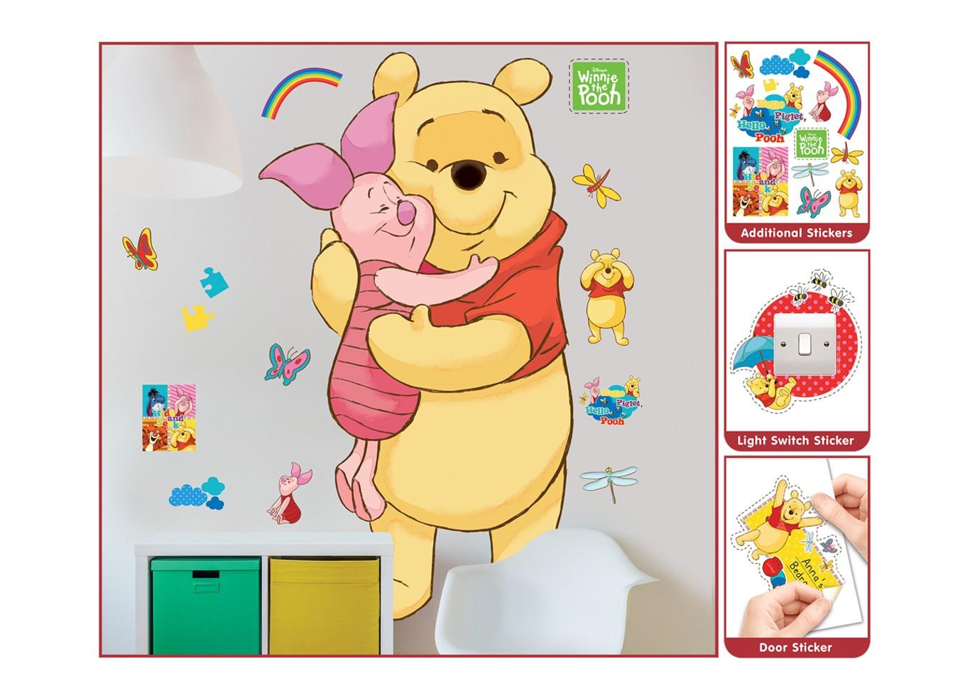 Samolepicí dekorace Walltastic Medvídek Pú 44319 (Sada samolepek do dětského pokoje)