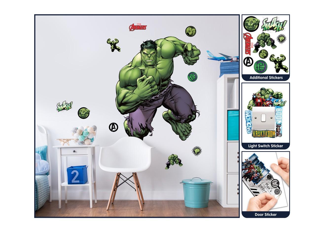 Samolepicí dekorace Walltastic Hulk 44289 (Sada samolepek do dětského pokoje)
