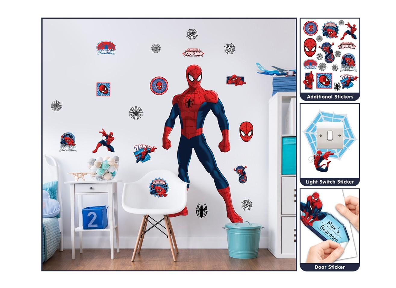 Samolepicí dekorace Walltastic Spiderman 44302 (Sada samolepek do dětského pokoje)
