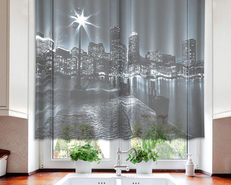 Fotozáclona Boston VO-140-002 | 140 x 120 cm (Textilní záclona | POŠTOVNÉ ZDARMA)