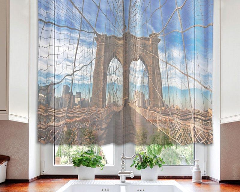 Fotozáclona Brooklyn VO-140-003 | 140 x 120 cm (Textilní záclona | POŠTOVNÉ ZDARMA)
