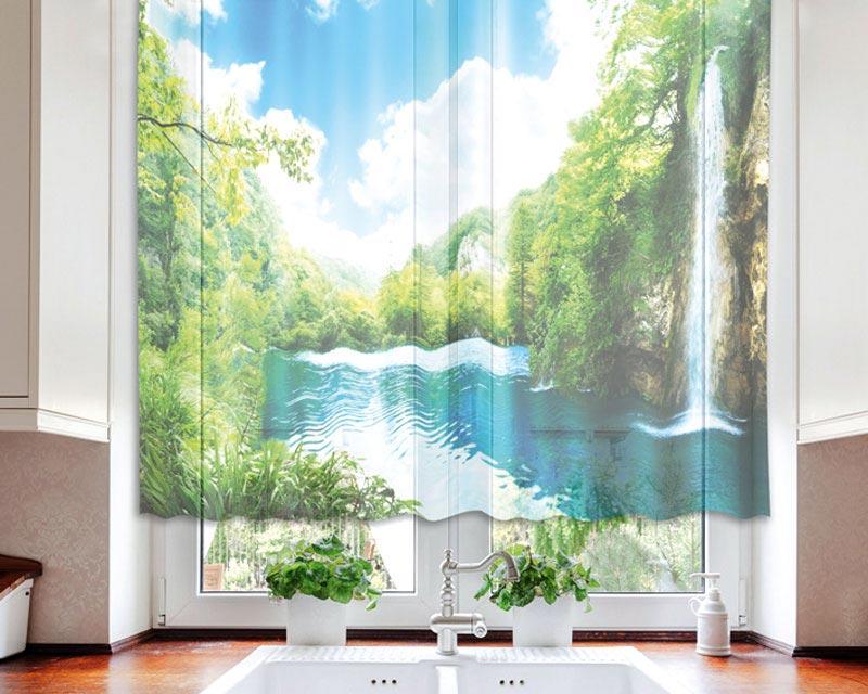 Fotozáclona Forest VO-140-004 | 140 x 120 cm (Textilní záclona | POŠTOVNÉ ZDARMA)