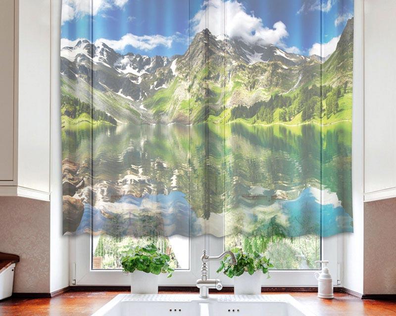 Fotozáclona Lake VO-140-005 | 140 x 120 cm (Textilní záclona | POŠTOVNÉ ZDARMA)