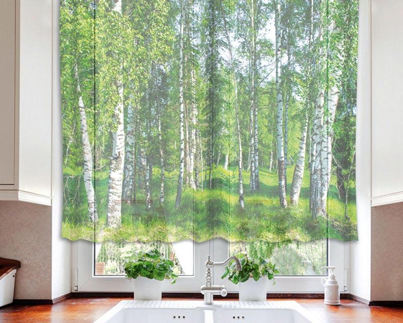 Fotozáclona Birch VO-140-006 | 140 x 120 cm (Textilní záclona | POŠTOVNÉ ZDARMA)