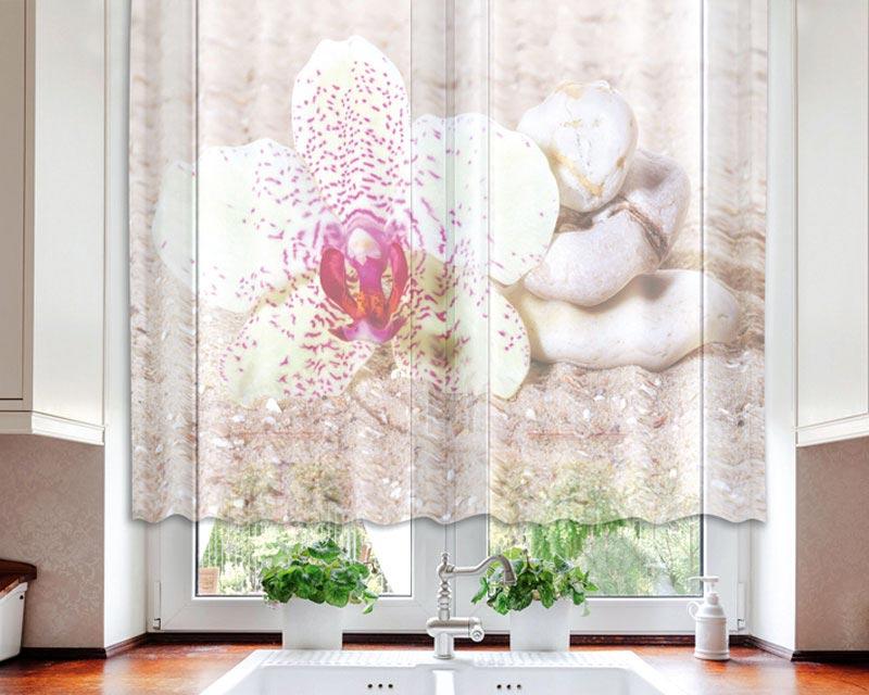 Fotozáclona Zen Balance VO-140-013 | 140 x 120 cm (Textilní záclona | POŠTOVNÉ ZDARMA)