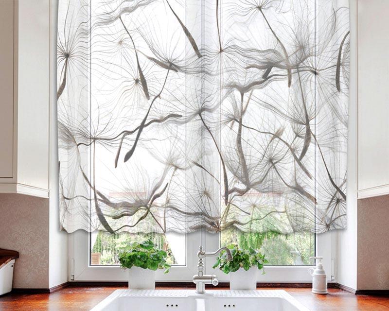 Fotozáclona Dandelion VO-140-019 | 140 x 120 cm (Textilní záclona | POŠTOVNÉ ZDARMA)