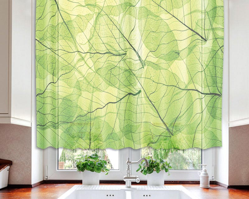 Fotozáclona Veins VO-140-020 | 140 x 120 cm (Textilní záclona | POŠTOVNÉ ZDARMA)