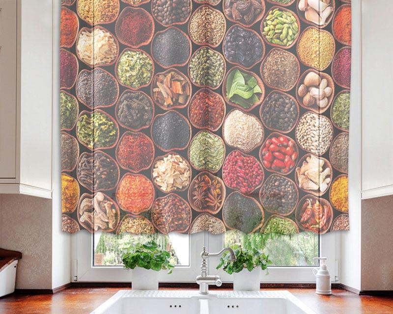 Fotozáclona Spice VO-140-024 | 140 x 120 cm (Textilní záclona | POŠTOVNÉ ZDARMA)