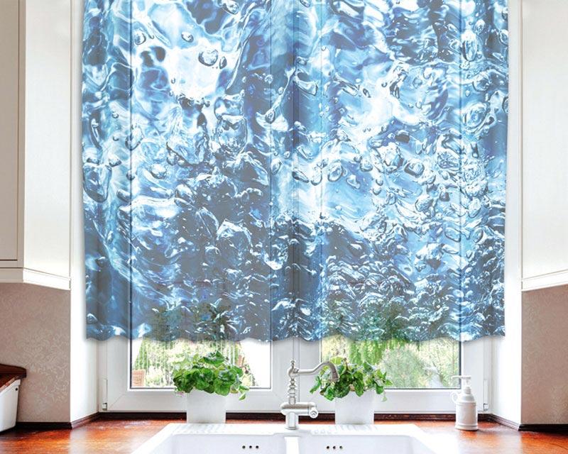 Fotozáclona Water VO-140-026 | 140 x 120 cm (Textilní záclona | POŠTOVNÉ ZDARMA)