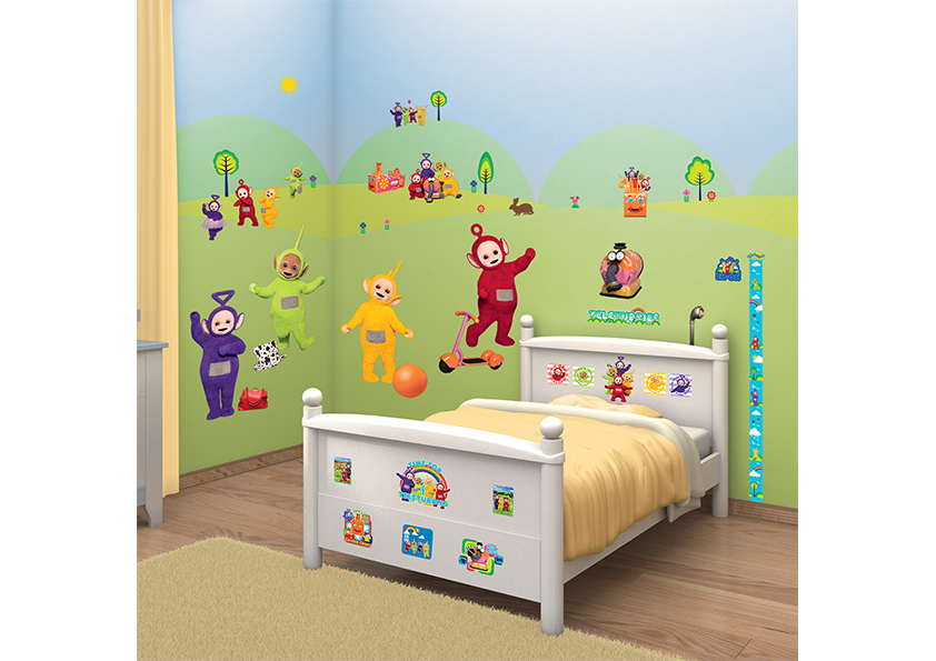 Samolepicí dekorace Walltastic Teletubbies 34 x 46 cm (Dětské samolepicí dekorace)