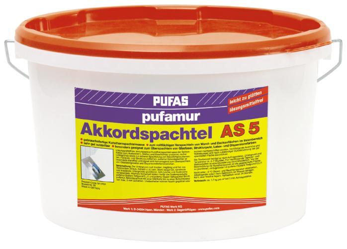 Tmel Akkord-Spachtel Pufas 15 kg (Hmota k přímému použití)