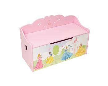 Dětská lavička Princezny (Lavice a úložný box pro děti)