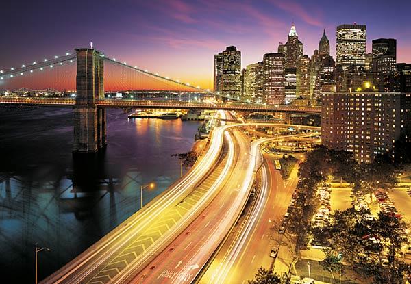 Fototapeta na zeď NYC Lights 8-516 (8-dílná fototapeta)
