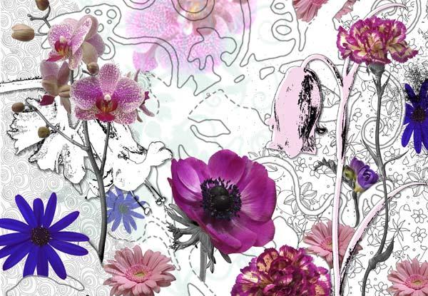 Fototapeta na zeď Purple 8-887 (8-dílná fototapeta na zeď)