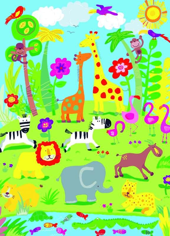Dětská fototapeta Animal Safari 418 (Papírová fototapeta 4-dílná)