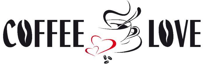 Samolepicí dekorace W+G Coffee Love 22 x 33 cm 74304 (Samolepicí dekorace)