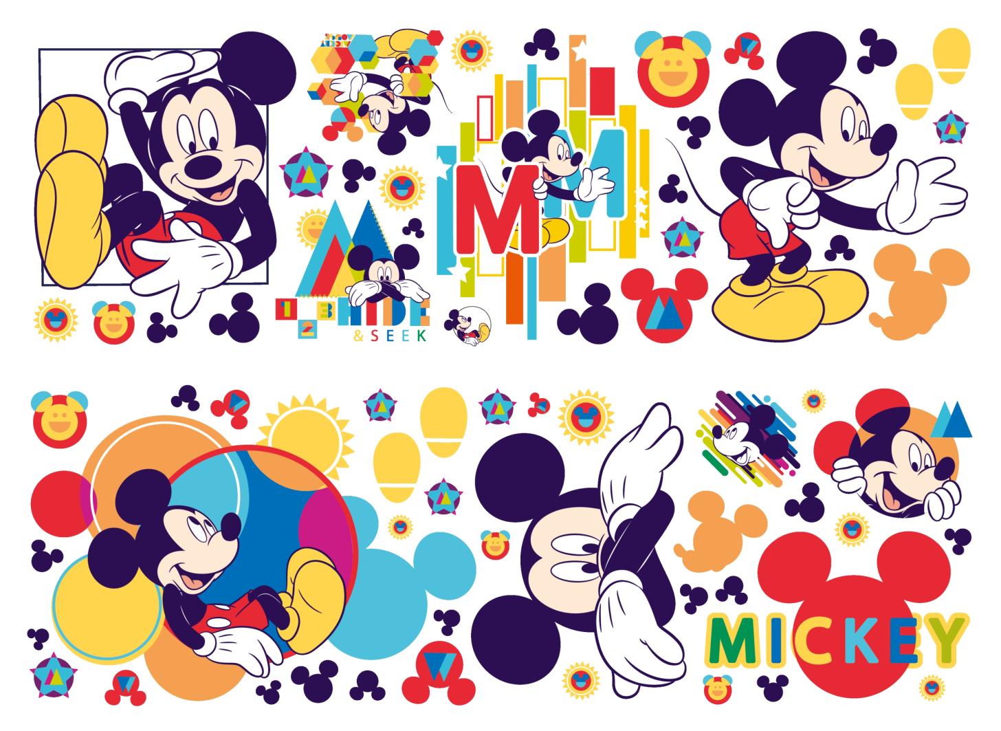 Nálepky na zeď Mickey Mouse