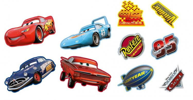 Mini pěnové figurky Cars 10 ks