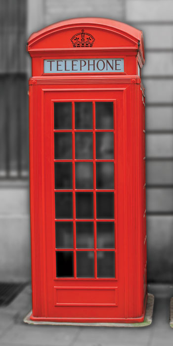 Dimex fototapeta British Phones S-110 | 110x220 cm