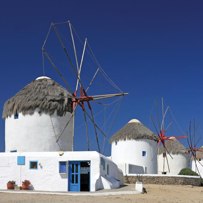 Fototapeta Windmills Greece L-181