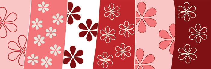 Fototapeta Red Floral Background M-202