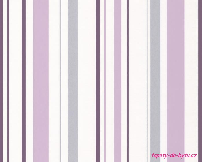 Tapeta na zeď A.S. Création Happy Hour 2594-24 | 0,53 x 10,05 m (Vinylová tapeta - šedá, fialová, bílá)