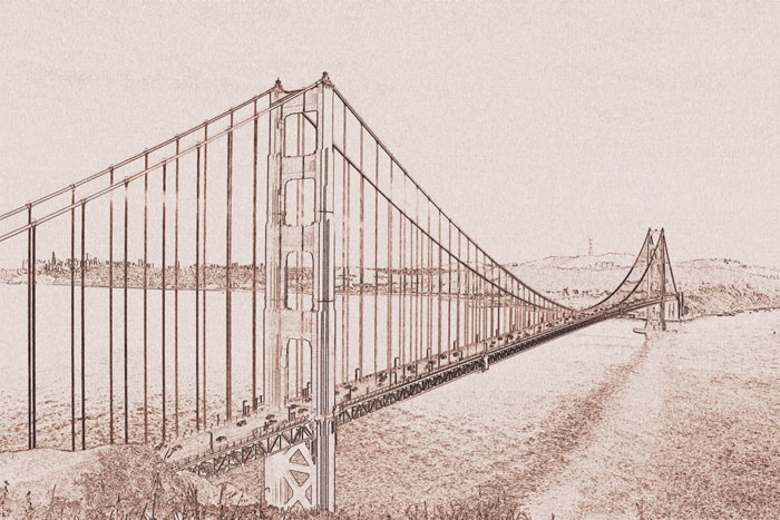 Fototapeta na zeď Golden Gate XL-302