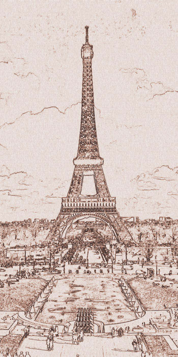 Fototapeta Dimex Paris Brown S-302 | 110x220 cm