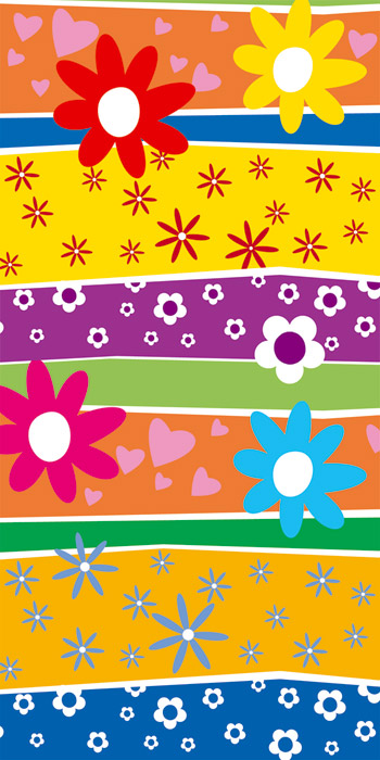 Fototapeta Dimex Colorful Flowers S-351 | 110x220 cm