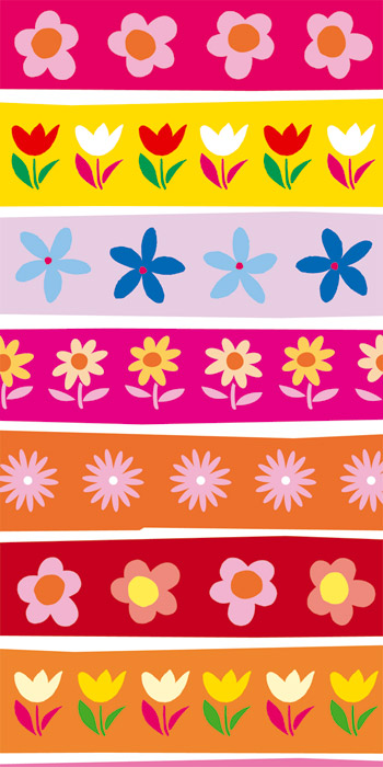 Fototapeta Dimex Colorful Flowers S-352 | 110x220 cm