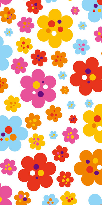 Fototapeta Dimex Colorful Flowers S-354 | 110x220 cm