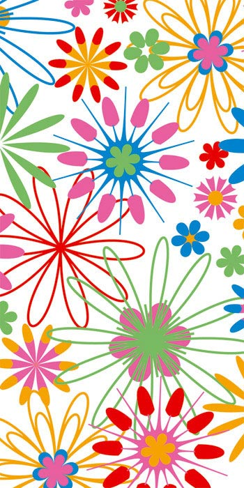 Fototapeta Dimex Colorful Flowers S-355 | 110x220 cm