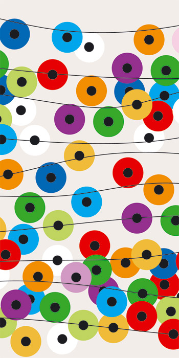 Fototapeta Dimex Colorful Circles S-358 | 110x220 cm