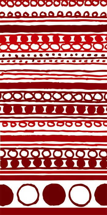 Fototapeta Red Pattern S-393