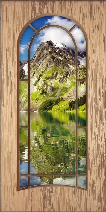 Samolepicí fototapeta Světlé dveře D017 (Fototapeta na dveře 95 x 210 cm)