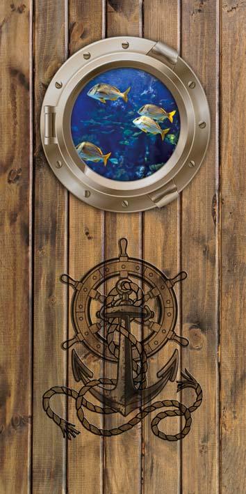 Samolepicí fototapeta Porthole D019 (Fototapeta na dveře 95 x 210 cm)
