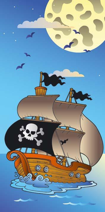 Samolepicí fototapeta Piráti D031 (Fototapeta na dveře 95 x 210 cm)
