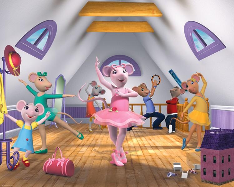 AKCE - Fototapeta pro děti Angelina Ballerina (Papírová fototapeta na zeď)