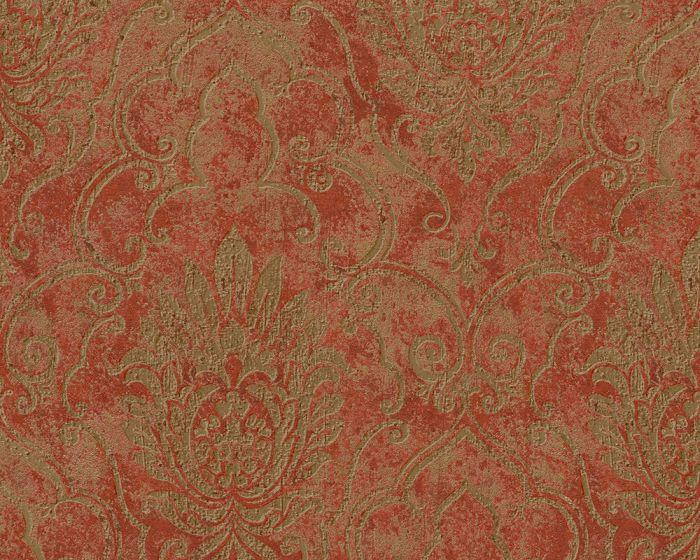 Vliesové tapety Bohemian 9453-34 (Červená, bronzová)