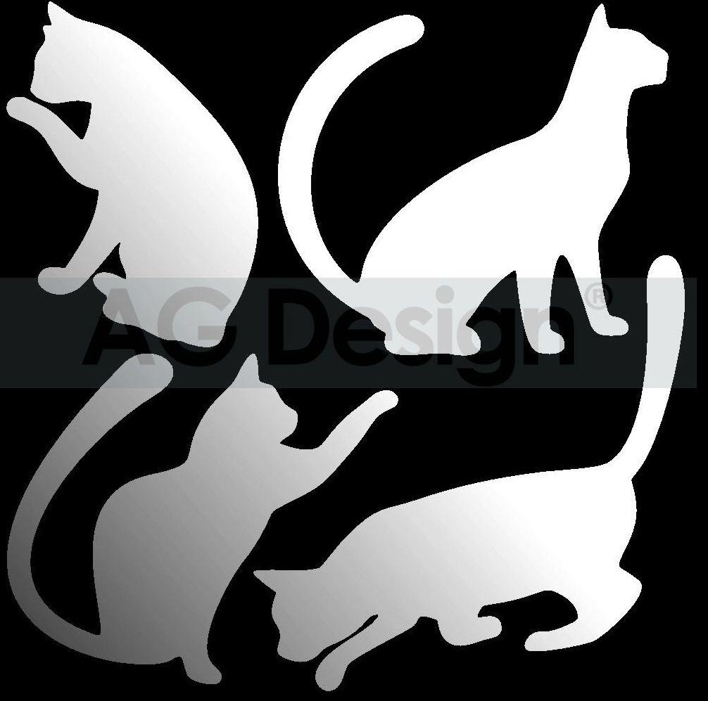 Dekorativní zrcadlo Kočky (Zrcadlo na stěnu)