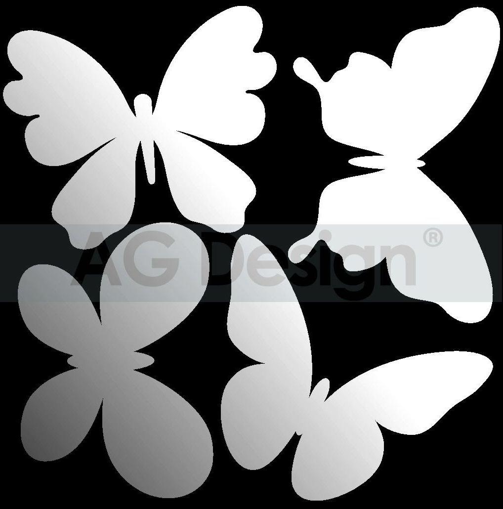 Dekorativní zrcadlo Butterflies (Zrcadlo na stěnu)