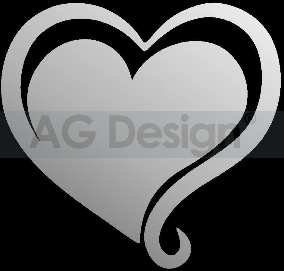 Dekorativní zrcadlo Srdce (Zrcadlo na stěnu)