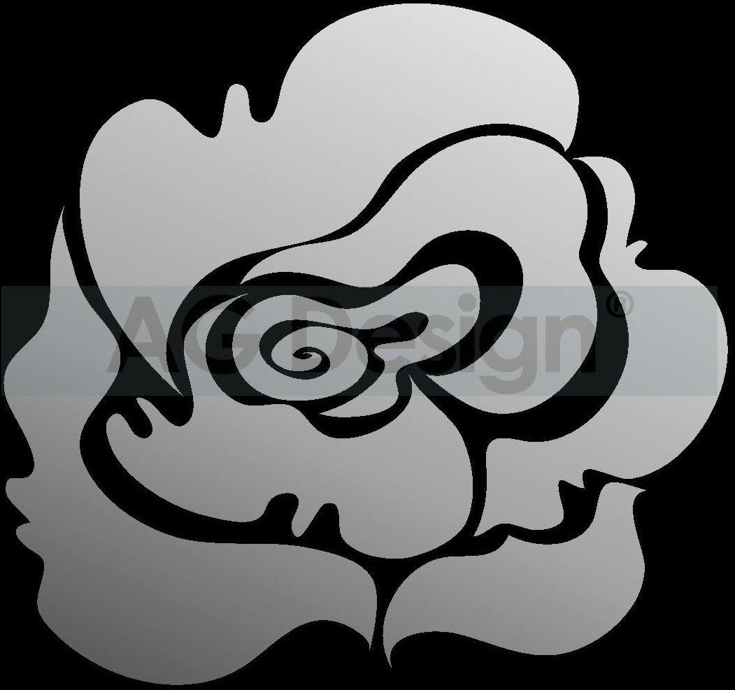 Dekorativní zrcadlo Rose (Zrcadlo na stěnu)