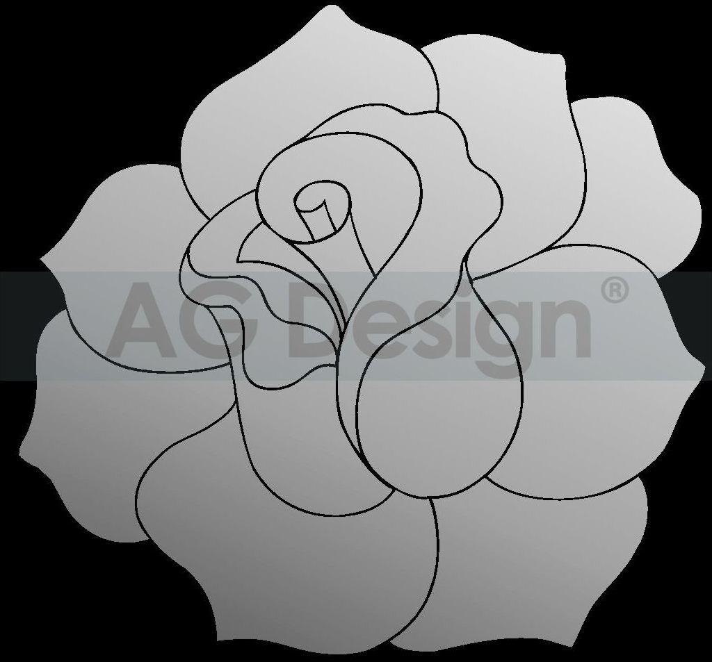Dekorativní zrcadlo Růže 2 (Zrcadlo na stěnu)