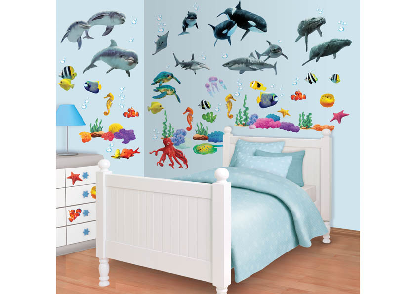 Samolepicí dekorace Walltastic Moře 34 x 46 cm 41097 (Dětské samolepicí dekorace)