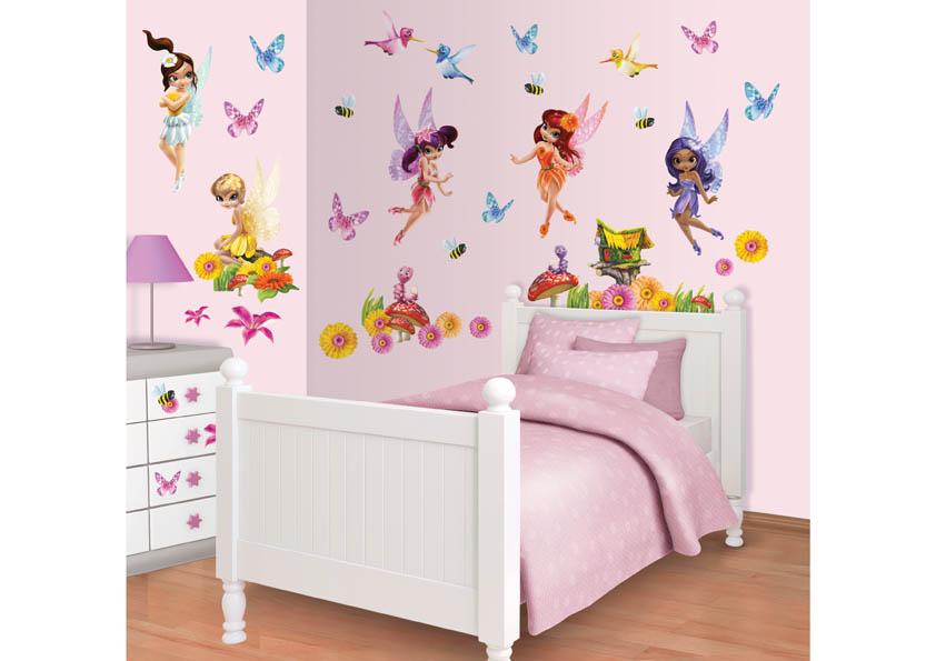 Samolepicí dekorace Walltastic Magické víly 34 x 46 cm 41110 (Dětské samolepicí dekorace)