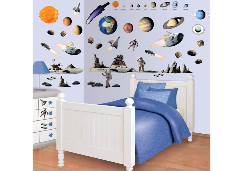 Samolepicí dekorace Walltastic Vesmír 34 x 46 cm 41127 (Dětské samolepicí dekorace)